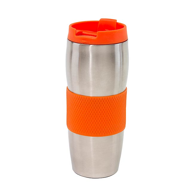 Dvoustěnný termohrnek AU LAIT - oranžová