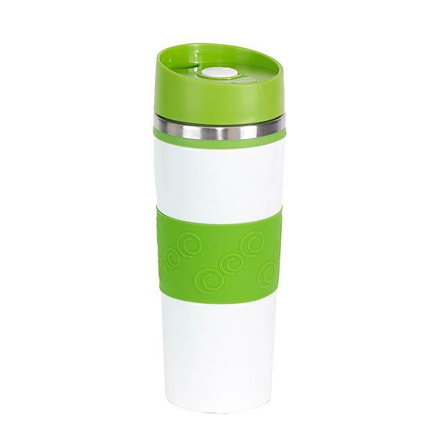 Dvoustěnný termohrnek ARABICA - zelená