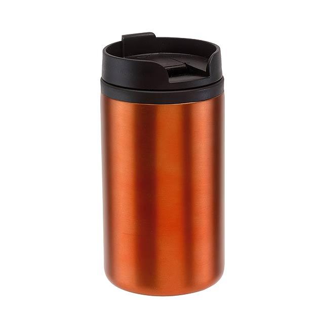 Cestovní hrnek TAKE FAST - oranžová