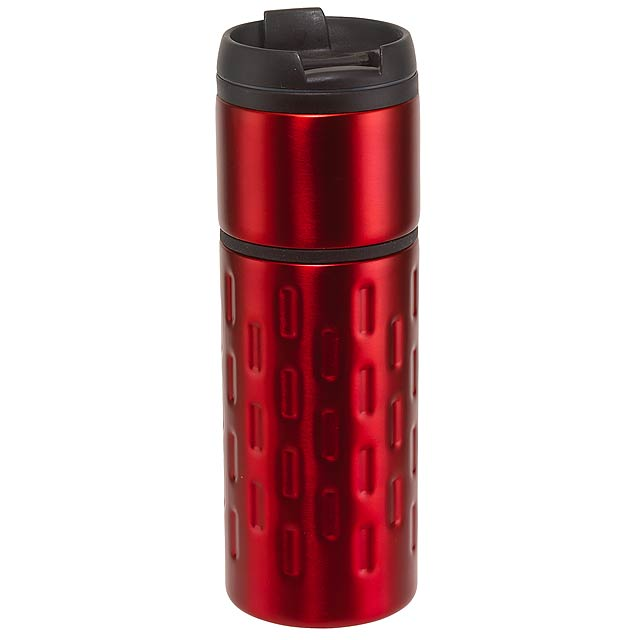 Dvoustěnný termohrnek EXCLUSIVE LIQUID - červená