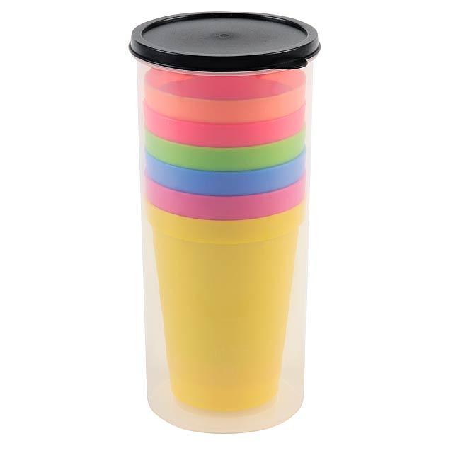 Pohárový set SMART DRINK - žlutá