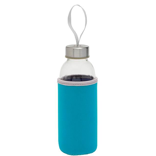 Skleněná láhev TAKE WELL - modrá