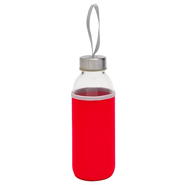 Skleněná láhev TAKE WELL - červená
