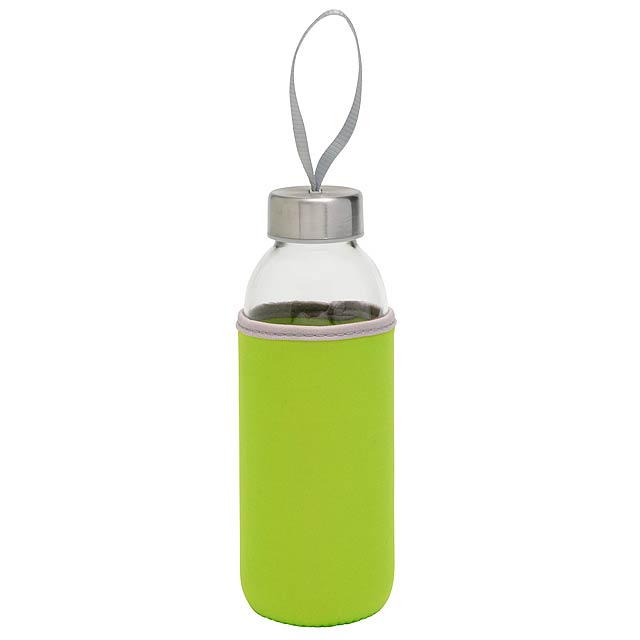 Skleněná láhev TAKE WELL - zelená