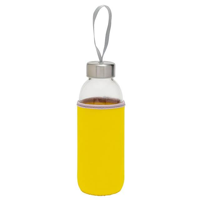 Skleněná láhev TAKE WELL - žlutá