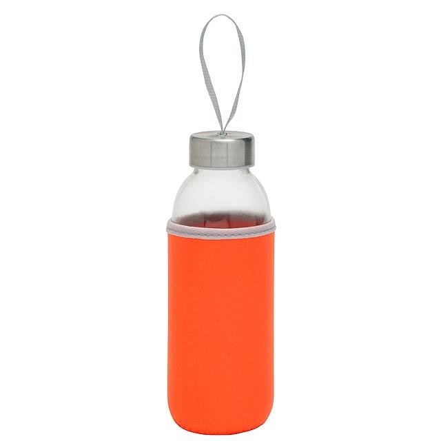Skleněná láhev TAKE WELL - oranžová