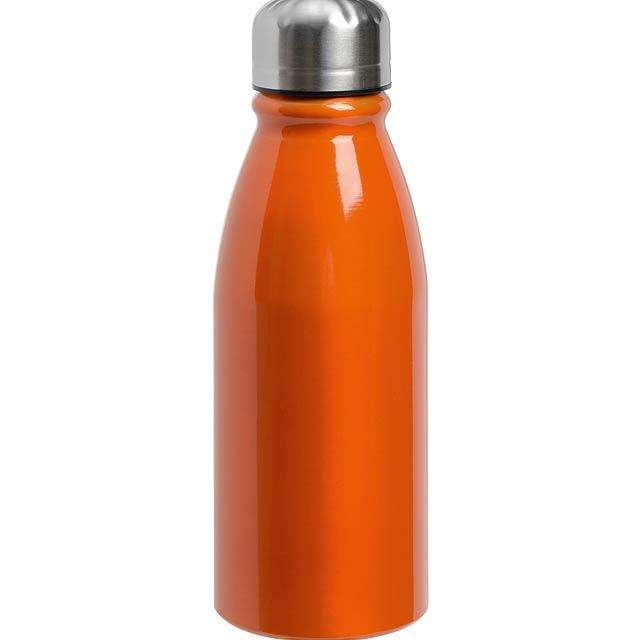 Hliníková láhev na pití FANCY - oranžová