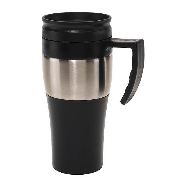 Dvoustěnný termohrnek HOT DRINK - stříbrná