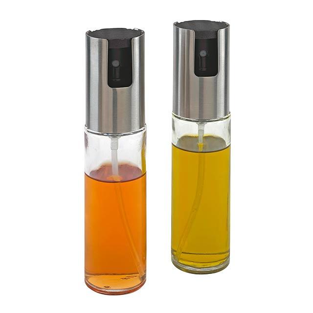 Rozprašovač na olej a ocet LIFESTYLE - stříbrná