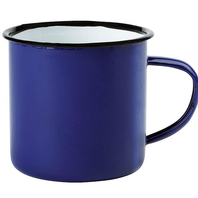 Smaltovaný hrnek RETRO CUP - bílá