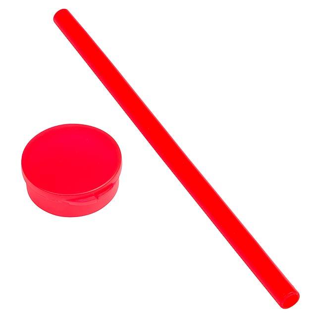 Silikonová slámka – brčko PRACTICALLY - červená