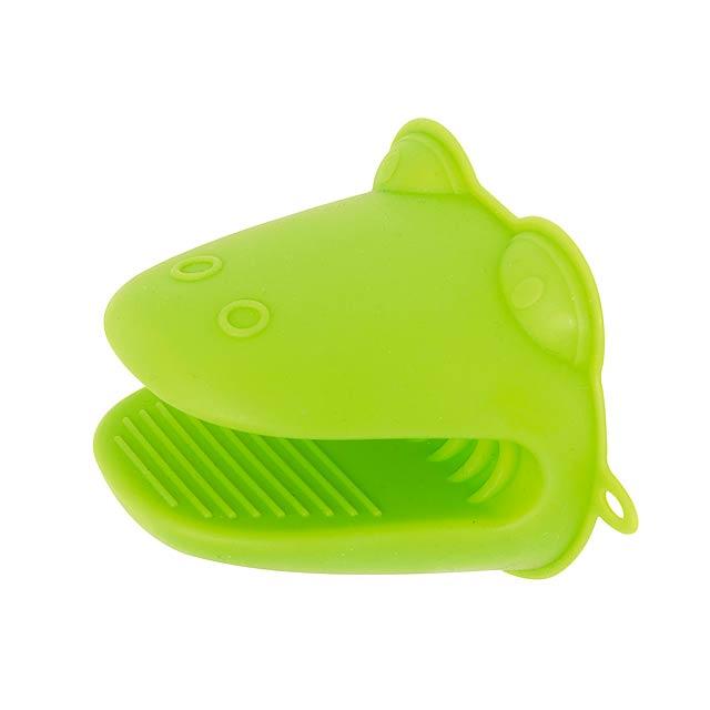 Siliknová rukavice CROCO - zelená