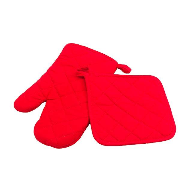 Rukavice SECURE - červená