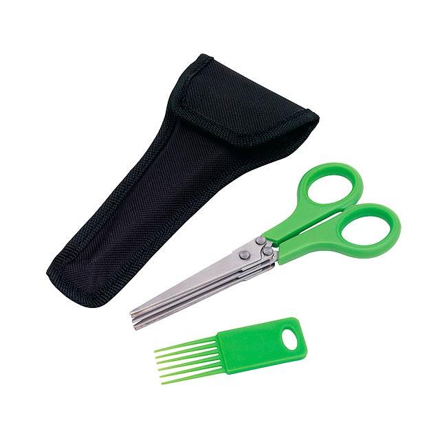 Nůžky na bylinky RACY - zelená