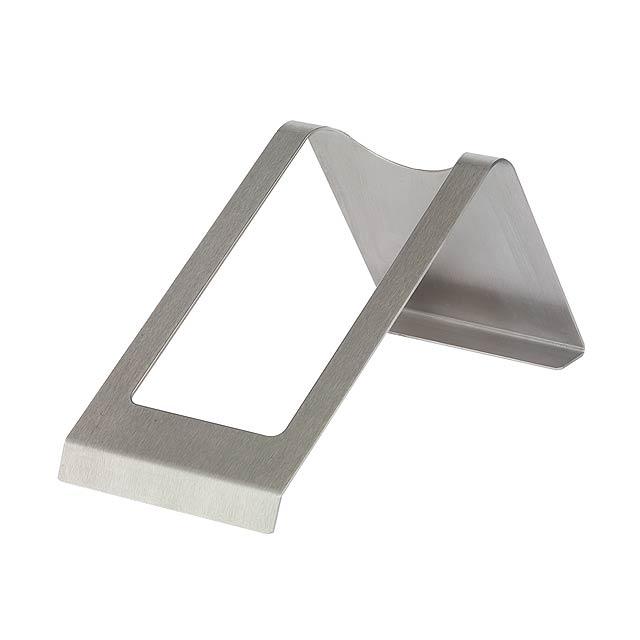 Držák lahví z nerezové oceli NOBLE - stříbrná