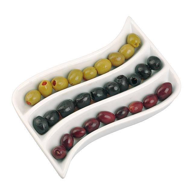 Porcelánový olive snack nádoba ADRIA - bílá