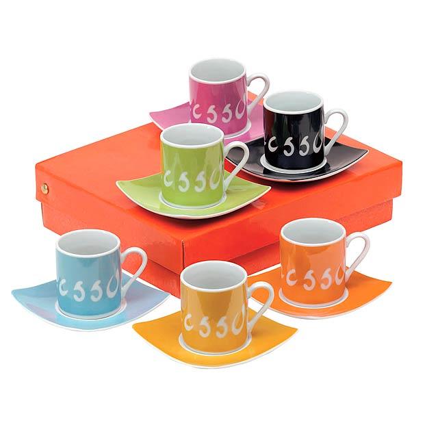 Espresso set LA DOLCE VITA - multicolor