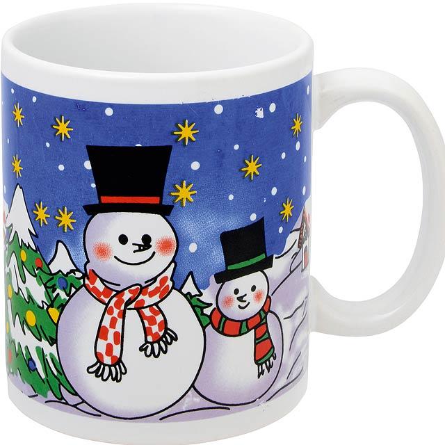 Vánoční hrnek XMAS CUP - modrá