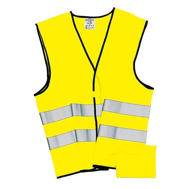 Bezpečnostní / nouzová vesta HERO - žlutá