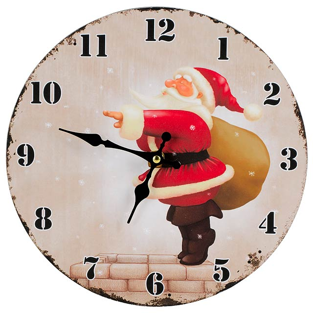Wall clock CHIMNEY - black