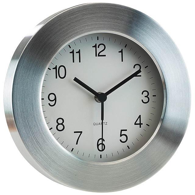 Hliníkové nástěnné hodiny VENUS - strieborná