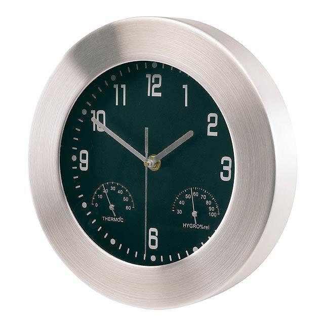 Hliníkové nástěnné hodiny JUPITER - strieborná