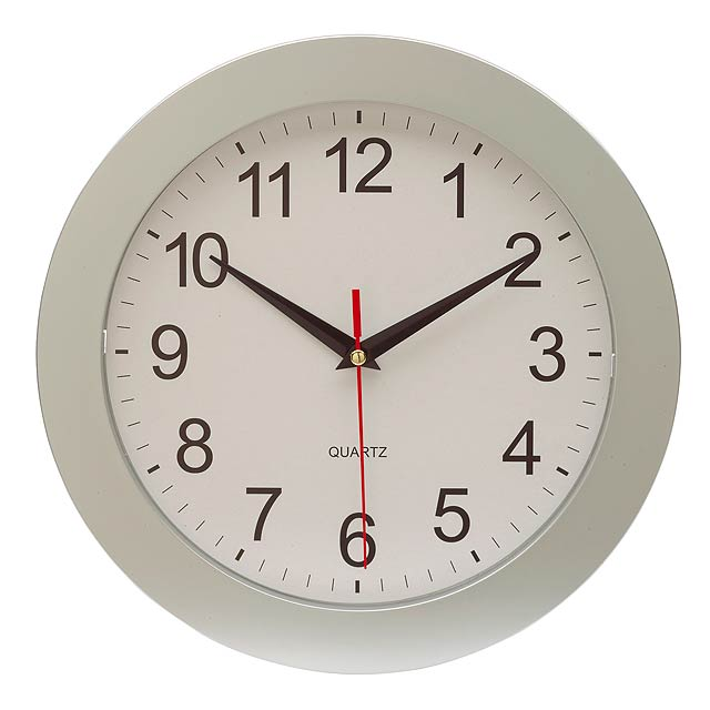 Wall clock EASY TIME - silver