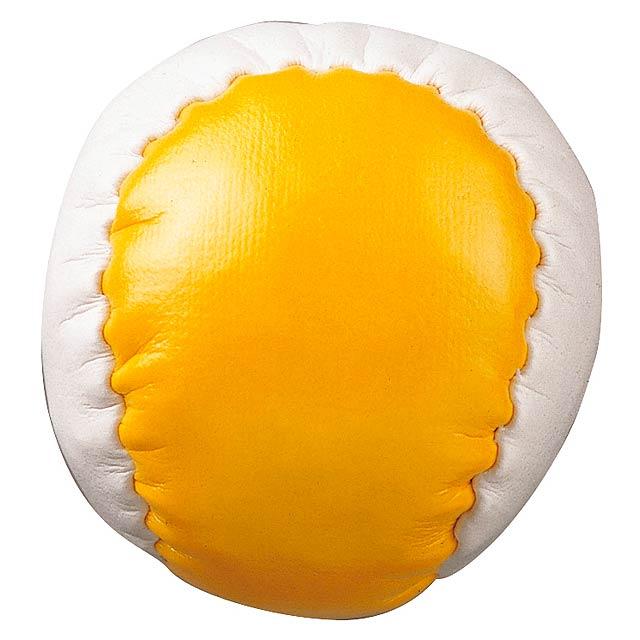 Antistresová koule JUGGLE - žlutá