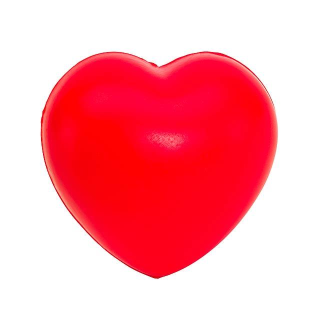 Antistresové srdce AMOR - červená