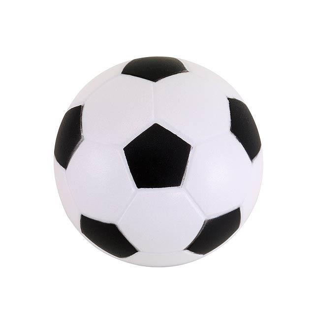 Antistresový fotbal KICK OFF - biela/čierna