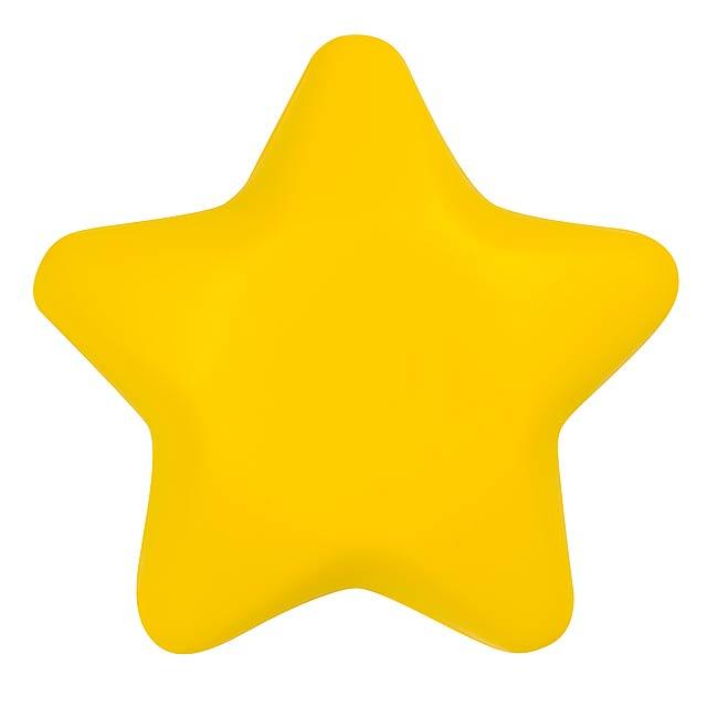 Antistresová hvězda STARLET - žlutá