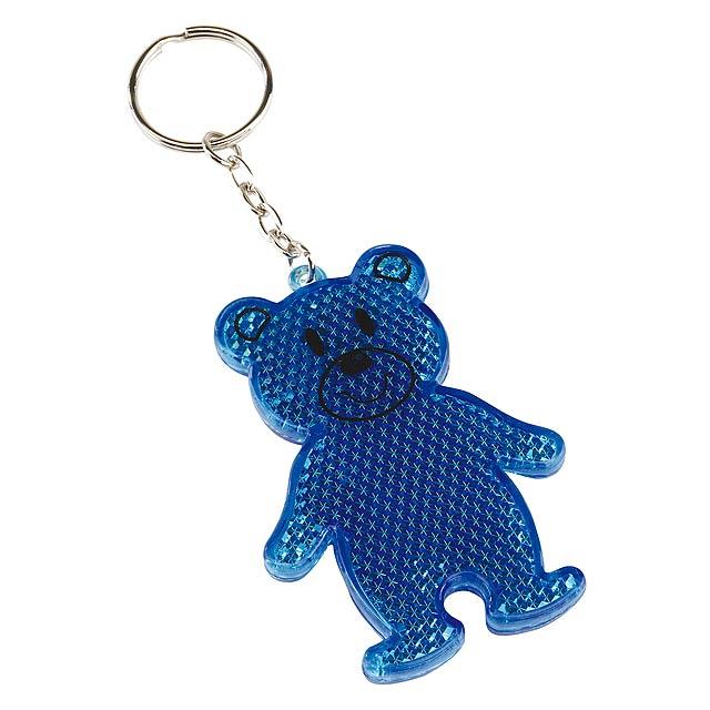 Reflexní medvídek TEDDY - modrá