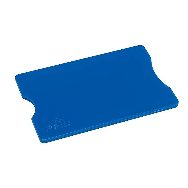 Pouzdro na kreditní karty PROTECTOR - modrá
