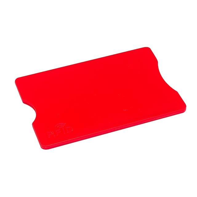 Pouzdro na kreditní karty PROTECTOR - červená