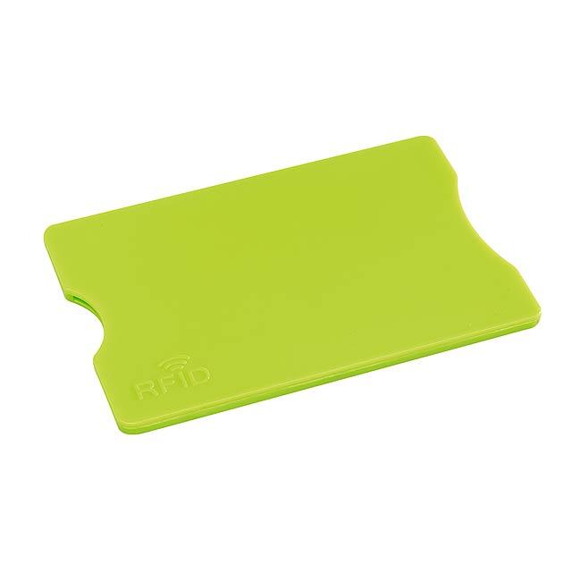 Pouzdro na kreditní karty PROTECTOR - citrónová - limetková