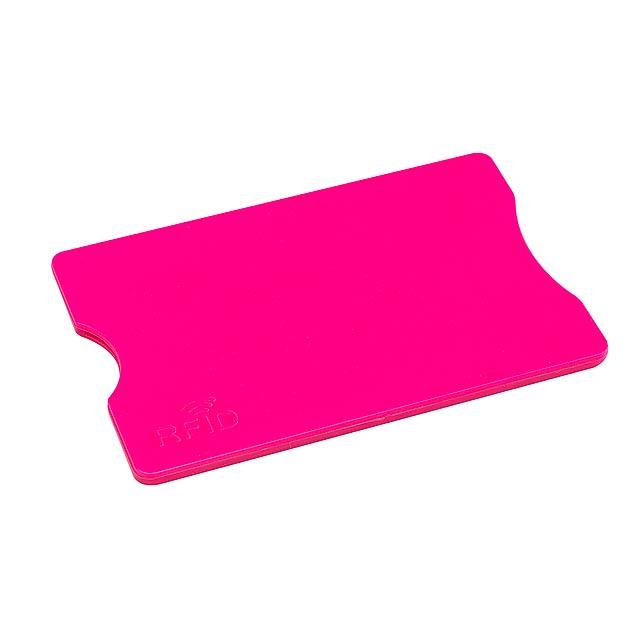 Pouzdro na kreditní karty PROTECTOR - fuchsiová (tm. růžová)