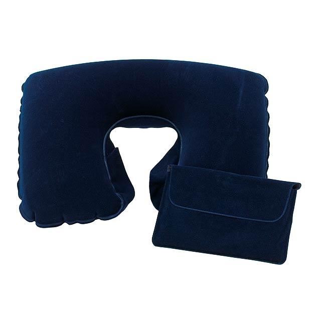 Nafukovací cestovní polštář COMFORTABLE - modrá