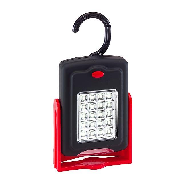 Pracovní lampa WORKSHOP - červená
