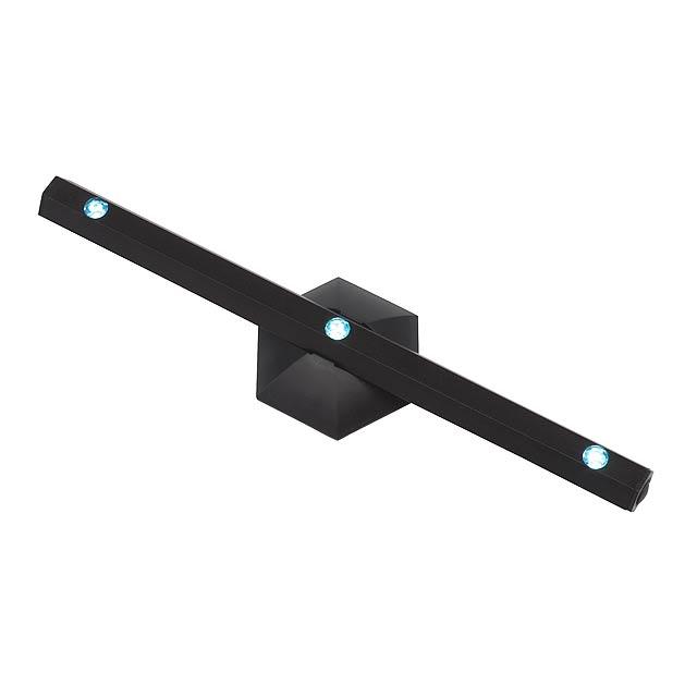 LED světlo HEXAGON - černá