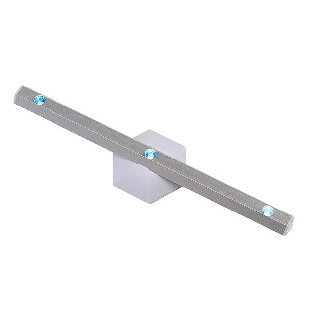 LED světlo HEXAGON - stříbrná