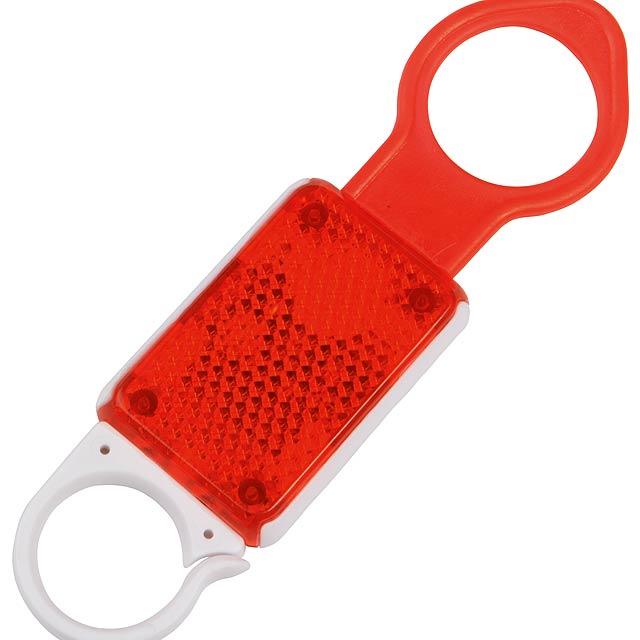 Odrazka s držákem na láhev HANG - červená