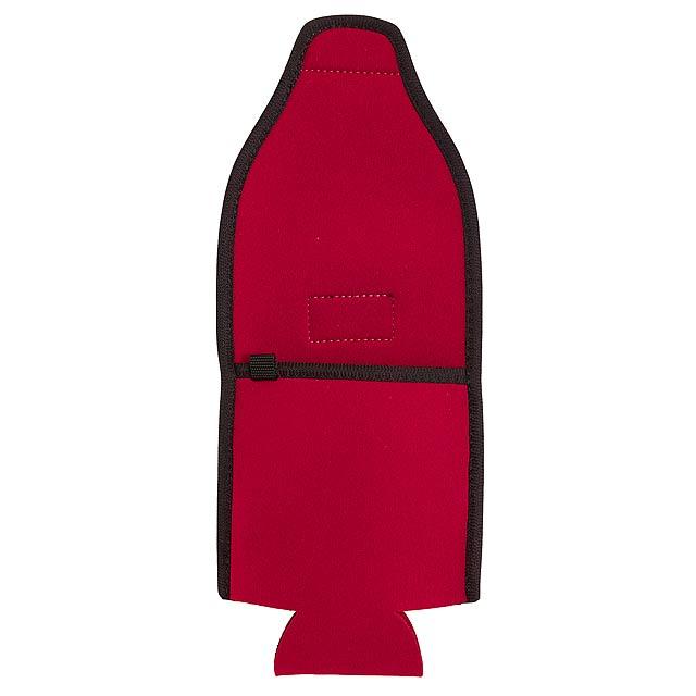 Držák na lahve plechovky COOL HIKING - červená