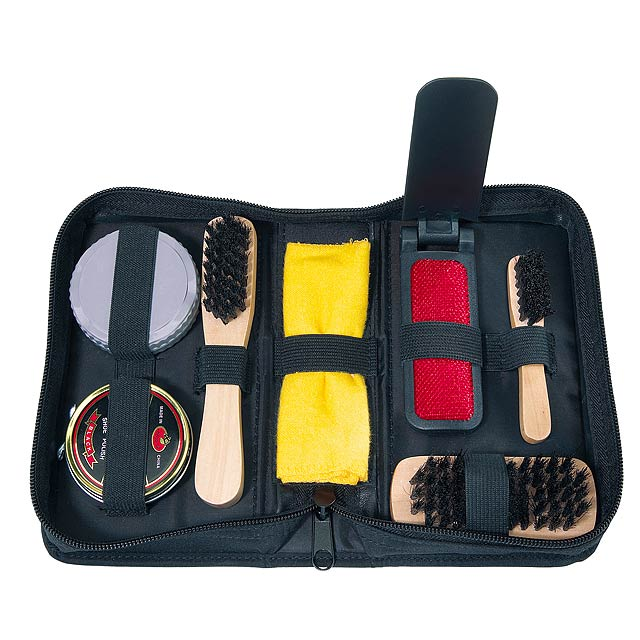 7 piece shoe cleaning set POLISH - black