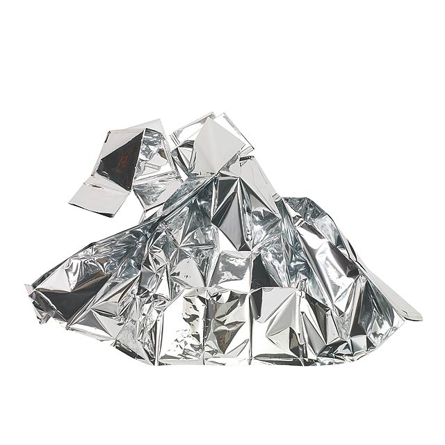 Weather blanket COVERING UP - silver