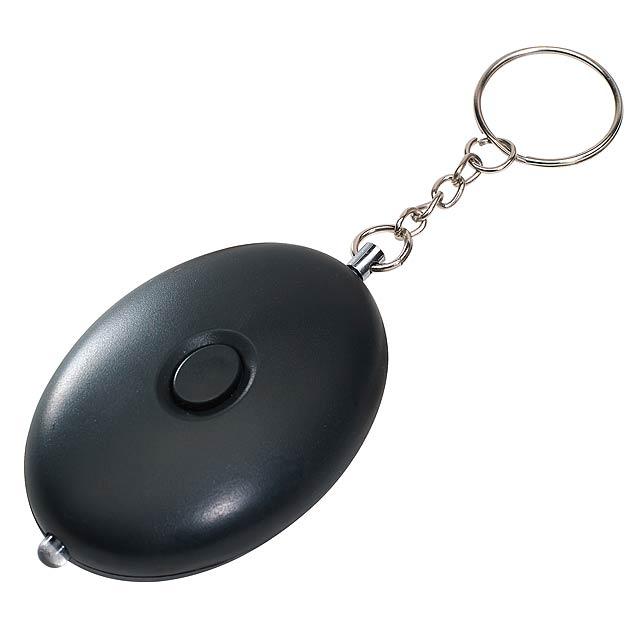 Alarmové klíčenky ACOUSTIC BOMB - černá