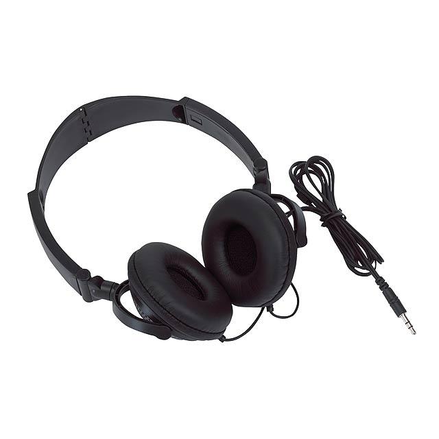 Polstrované sluchátka ROCKER - černá