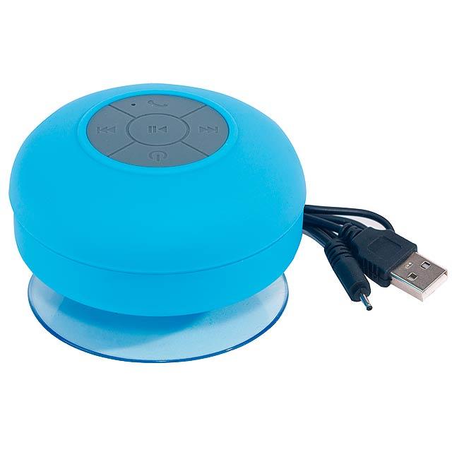 Sprchový reproduktor Bluetooth WAKE UP - modrá