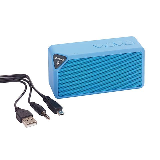 Bluetooth reproduktor CUBOID - modrá