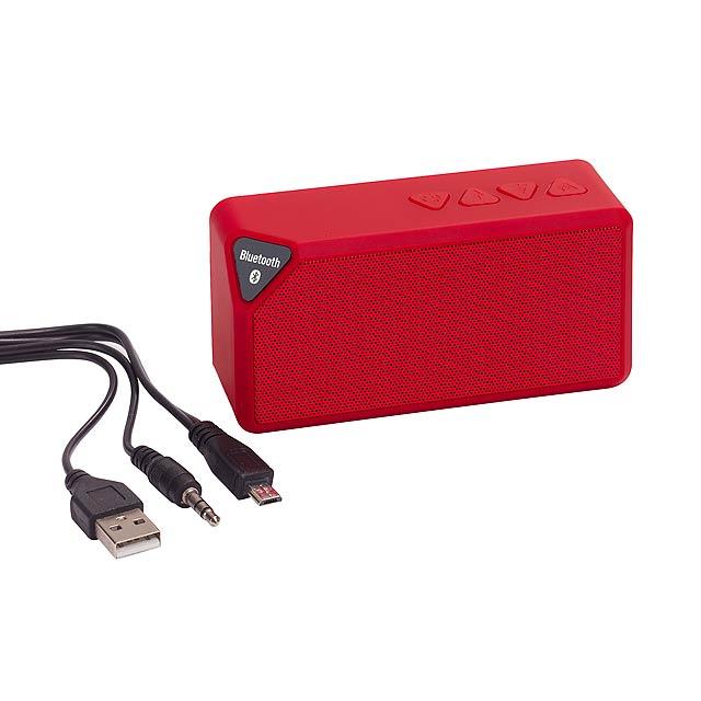 Bluetooth reproduktor CUBOID - červená