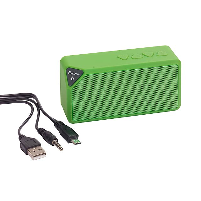 Bluetooth reproduktor CUBOID - zelená